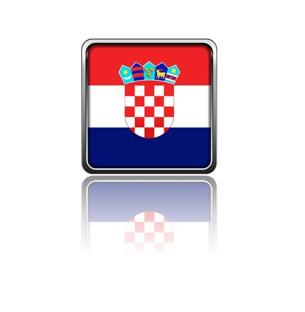 croatia: National flag of Croatia Illustration