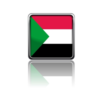 sudan: National flag of Sudan Illustration