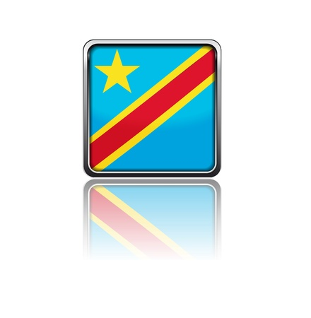democratic republic of the congo: National flag of Democratic republic of Congo Illustration