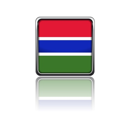 gambia: National flag of Gambia Illustration