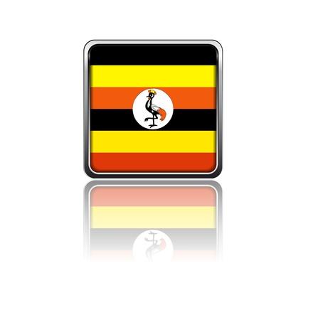 uganda: National flag of Uganda Illustration