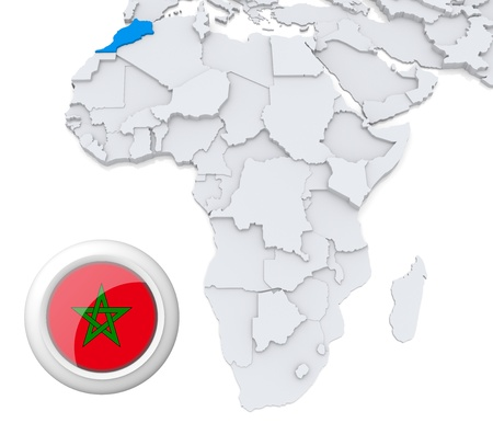 Morocco on Africa map photo
