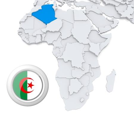 Algeria on Africa map photo