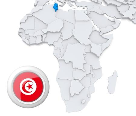 cape verde flag: Tunisia on Africa map