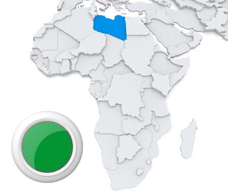 Libya on Africa map photo