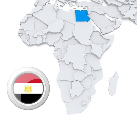 Egypt on Africa map