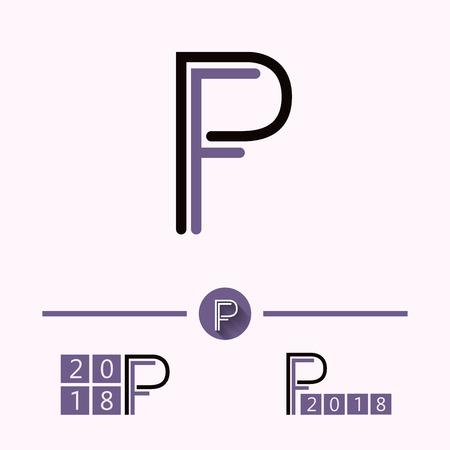 Initial letter PF logo design