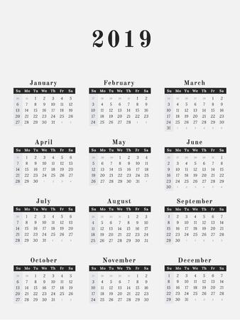calendar for year 2019 - Isken kaptanband co