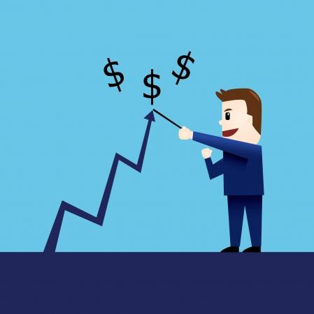 stockholder: Businessman character vector