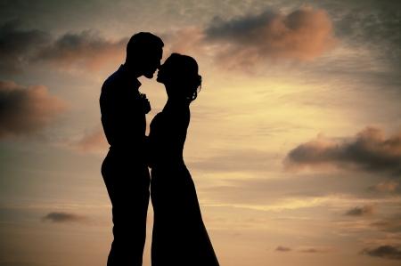 Silhouette couple photo