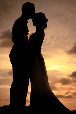 Silhouette couple photo