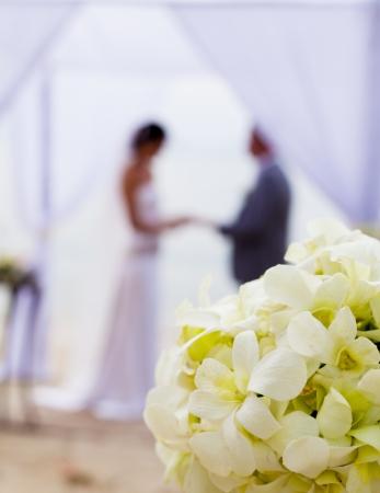 Hochzeit am Strand. Lizenzfreie Bilder