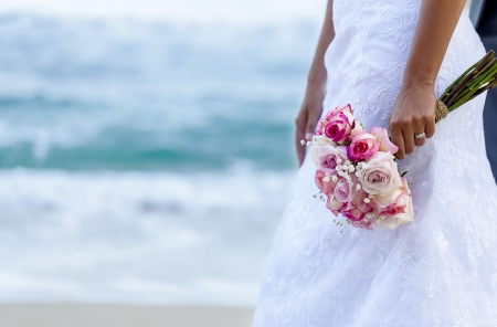 beautiful bride: Wedding Bouquet Stock Photo