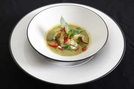 Shrimp green curry, Thai food. photo