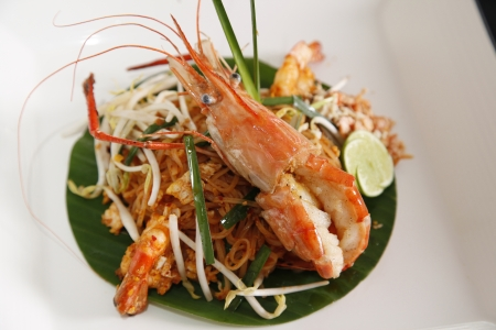 Thai style noodles.(Pad thai) photo