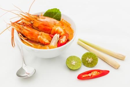 tom: Thai Food Tom Yum Goong,Thai popular soup.