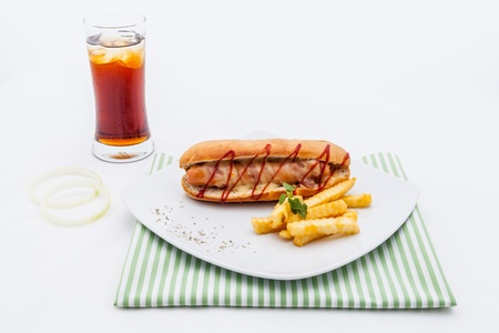 homemade style: Tasty hot dog  homemade style.