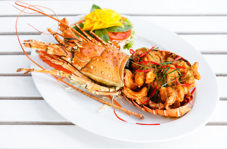 Gourmet spice curry lobster. Фото со стока