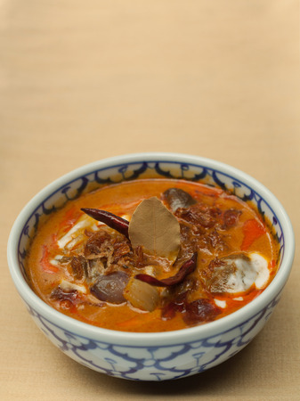 Dried Beef with coconut milk curry.  photo