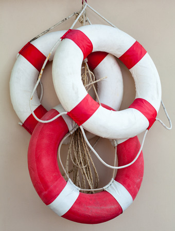 The life Buoy on the wall   photo