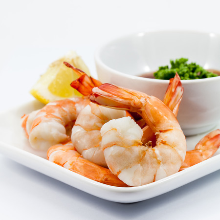 Shrimp Cocktail Isolated on a White Background  photo