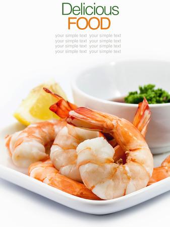 shrimp cocktail: Shrimp Cocktail Isolated on a White Background.
