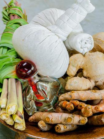 thai spa: Authentic thai spa therapy ingredients.