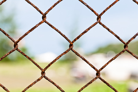 chain fence: Chain fence for private area .