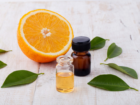 Natural Spa Ingredients . - Essential aroma oil with orange.