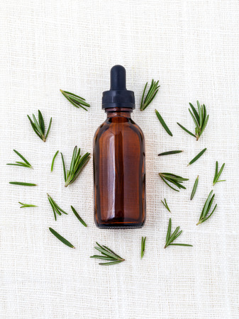 Natural Spa Ingredients  rosemary essential oil for aromatherapy.