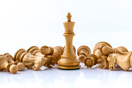 Chess concept save the king and save the  strategy. Stock Photo
