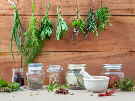 Assorted hanging herb