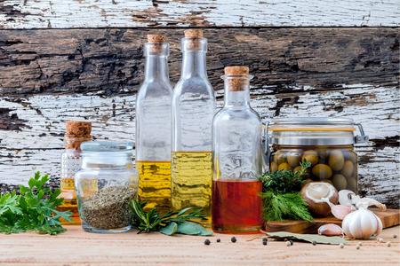 Different sorts of cooking oil