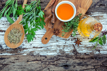 Assortment of herbs. Stock Photo