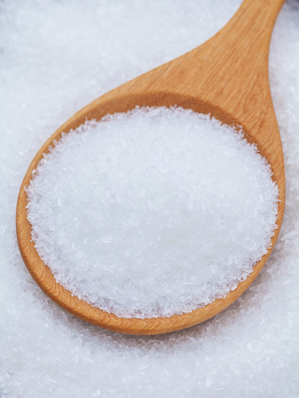 glutamate: Monosodium glutamate (MSG) a flavor enhancer asian food.