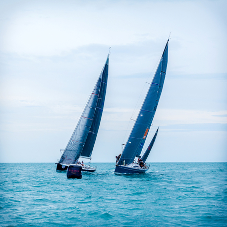 deportes nauticos: SAMUI REGATTA 2015, THAILAND - MAY 25 : Event at Chaweng beach ,Koh Samui island ,Thailand May 25, 2015