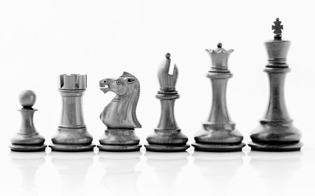 Chess concept save the king and save the  strategy. Stok Fotoğraf