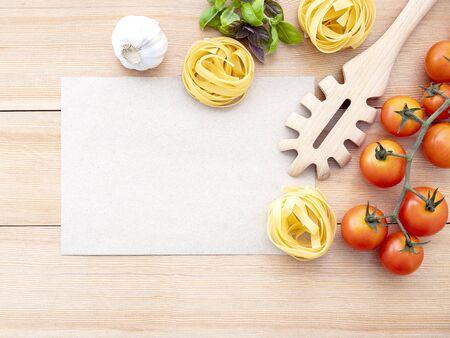 Italian foods concept and menu design