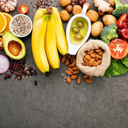 Ingredients for the healthy foods selection
