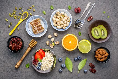 Ingredients for the healthy foods