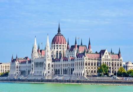 Budapest, the building of the Parliament, Hungary.