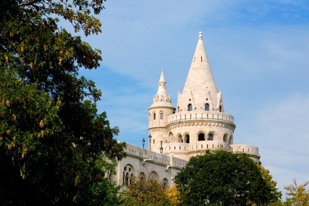 Fisherman Bastion on the Buda Castle hill in Budapest, Hungary  Editorial