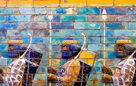 The Ishtar Gate and the Processional Way, Babylon,The Pergamon Museum Stock Photo