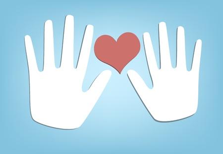 2 つの手と心。