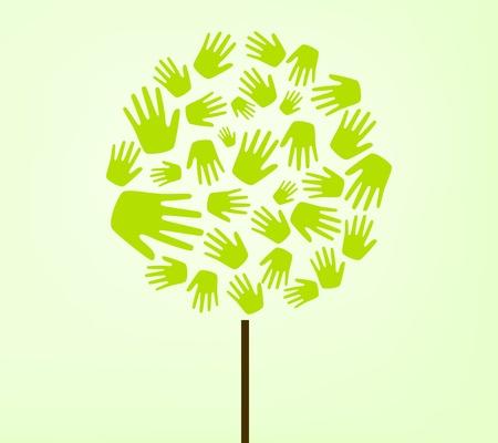 hands tree Stock Vector - 11844267