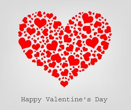 hart bloem: valentine naadloze harten