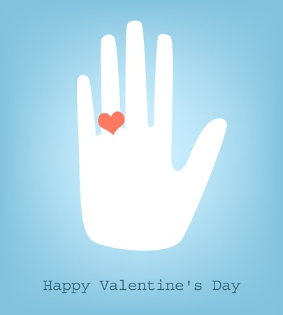 hands silhouette with heart Vector