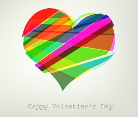 心のベクトル イラスト。バレンタイン 写真素材 - 11909478