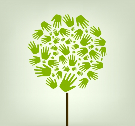 fundraiser: hands tree