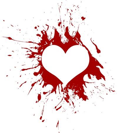 赤いベクトルグランジの心臓  イラスト・ベクター素材